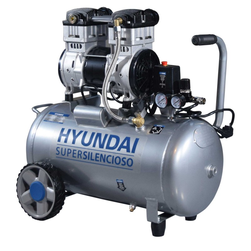 Compresor Silencioso sin aceite ni mantenimiento Hyundai HYAC50-2S