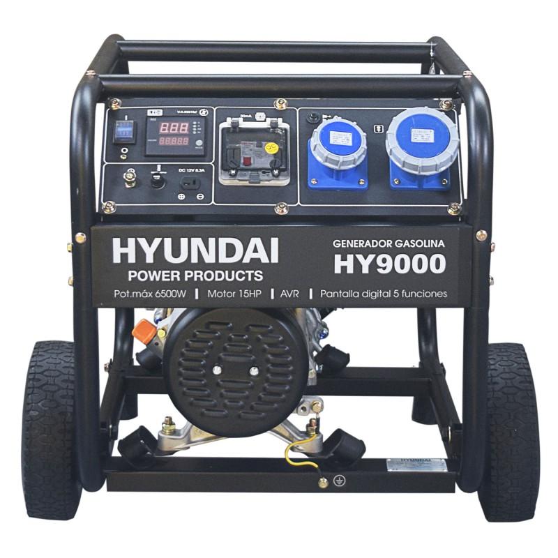 Generador Gasolina Hyundai con ruedas para un fácil transporte